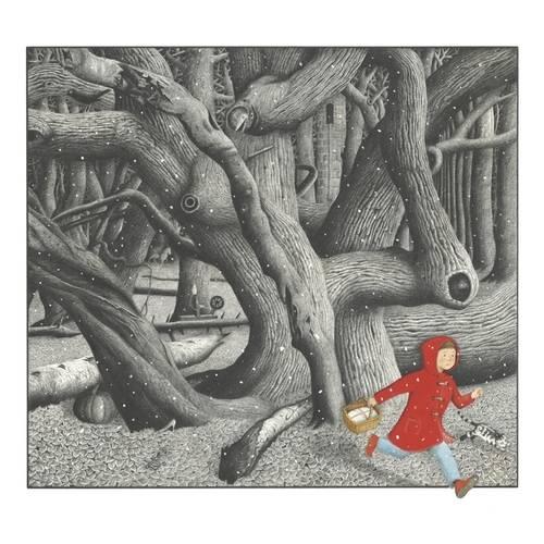 Ilustración en el bosque